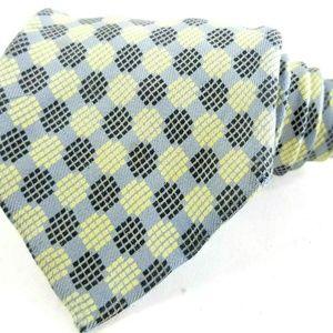 Brioni 100% Silk Geometric Print Tie